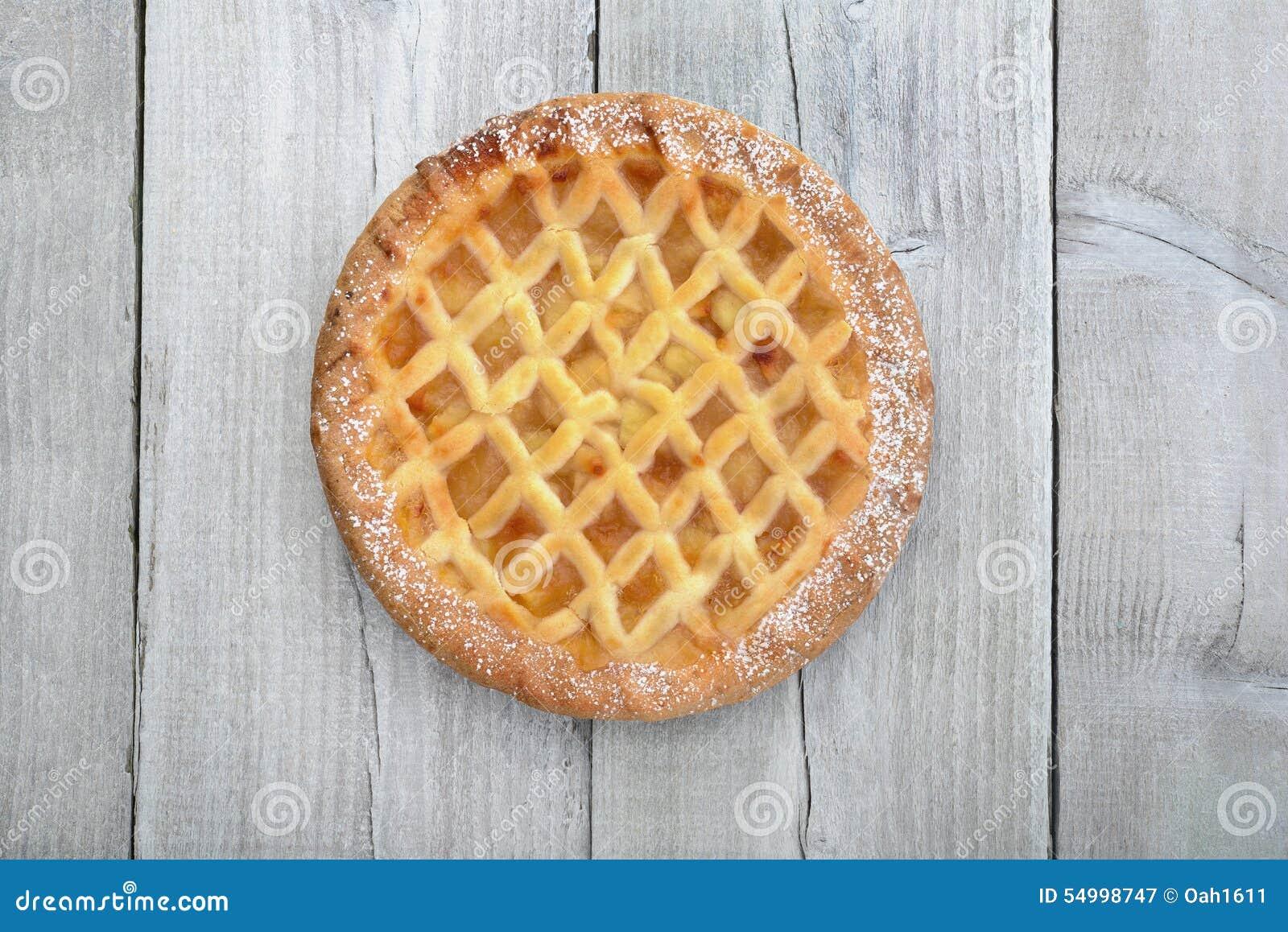 Empanada de apple en la madera foto de archivo imagen - Empanelados de madera ...