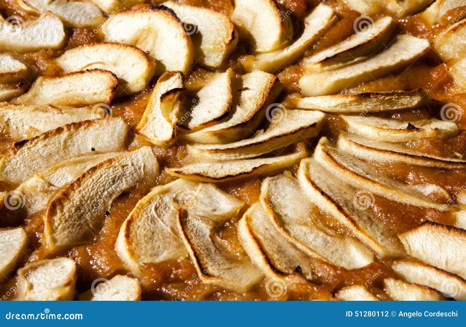 Empanada de Apple Tarta o torta con el atasco
