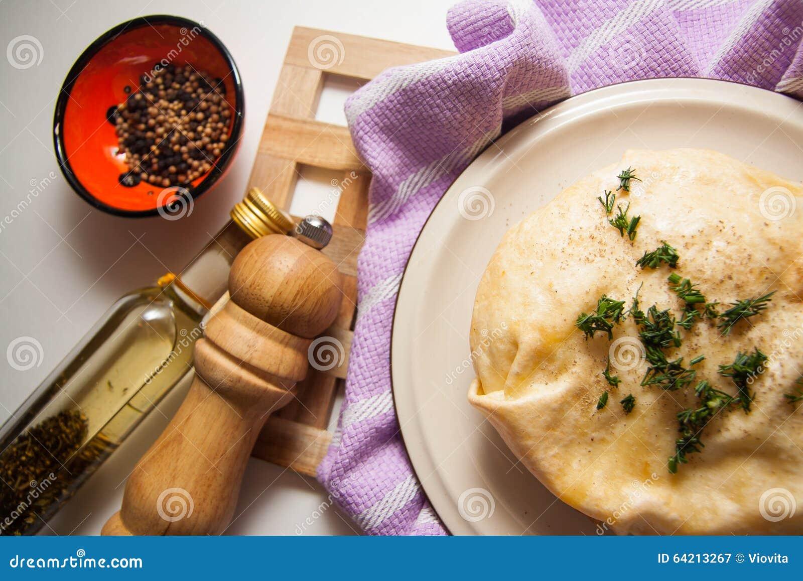 Empanada hecha en casa del queso