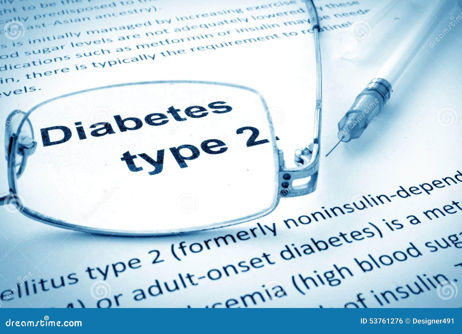 Empapele con el tipo de la diabetes de las palabras - 2