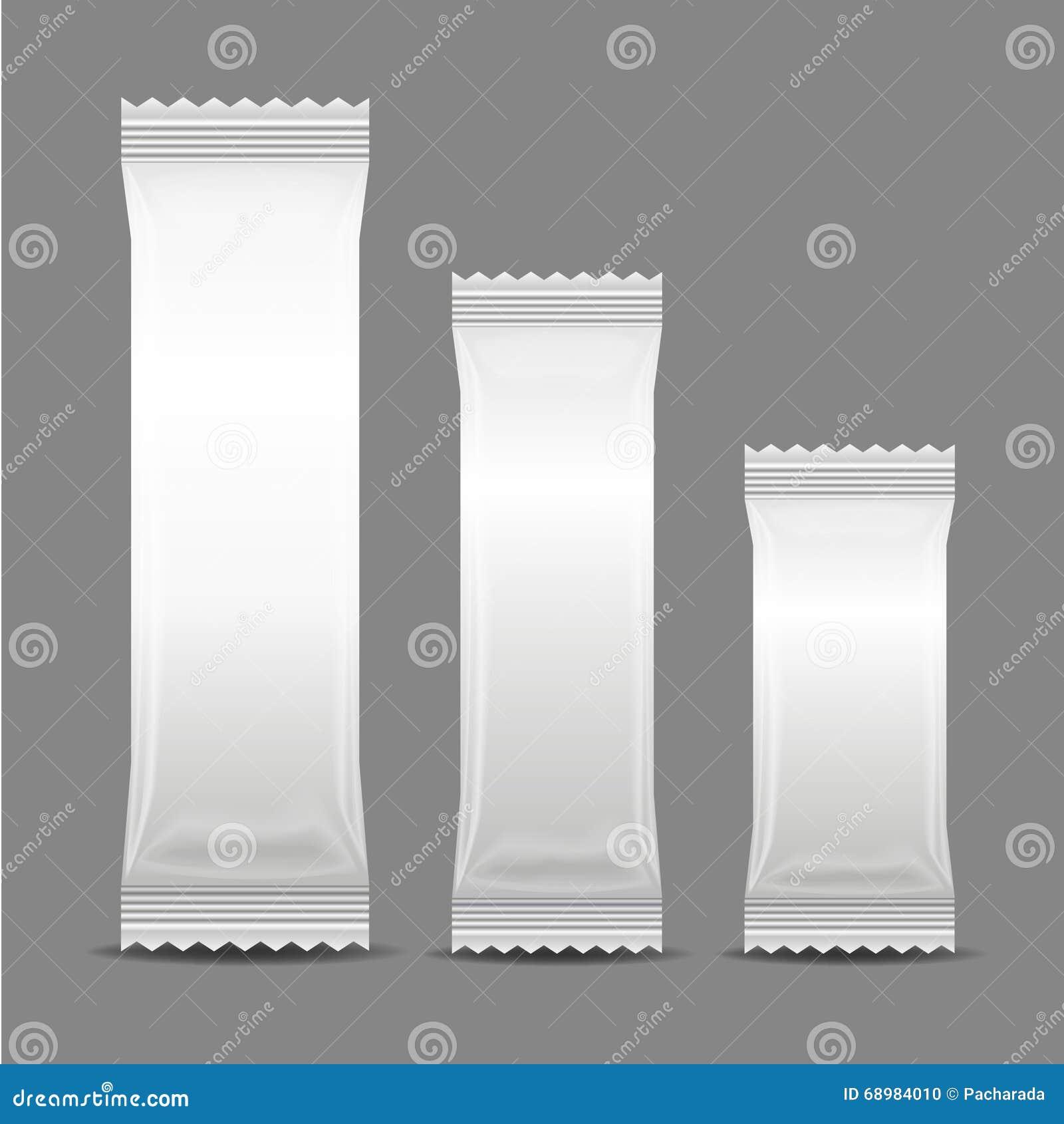 Empaquetado en blanco del bolso de la bolsita del bocado de la comida de la hoja