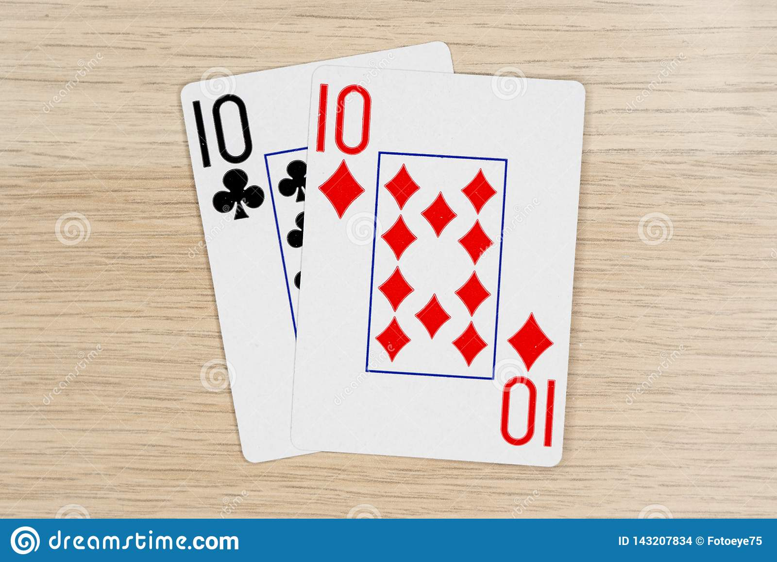 Emparéjese de los diez 10 - casino que juega tarjetas del póker