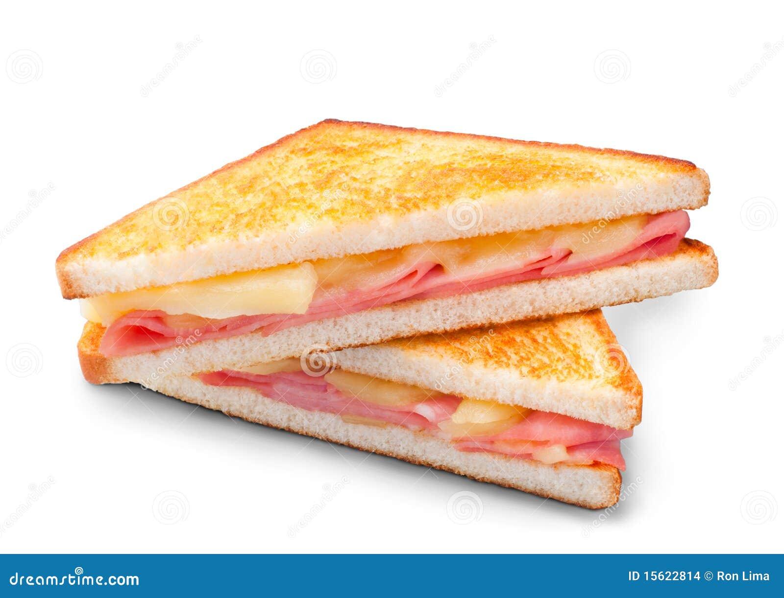 Emparedado del panini del jamón y del queso