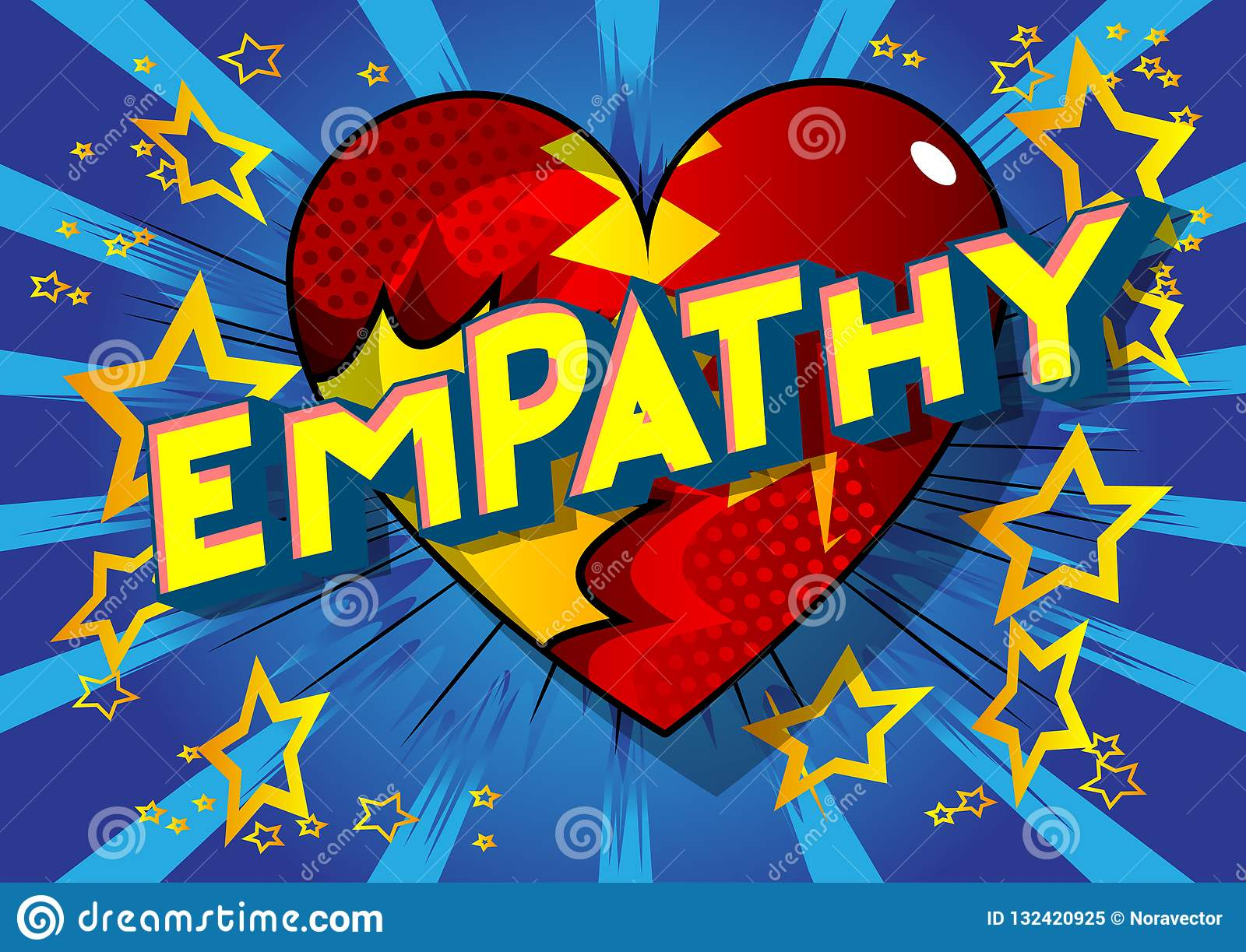 Empathy - Comic book style words.