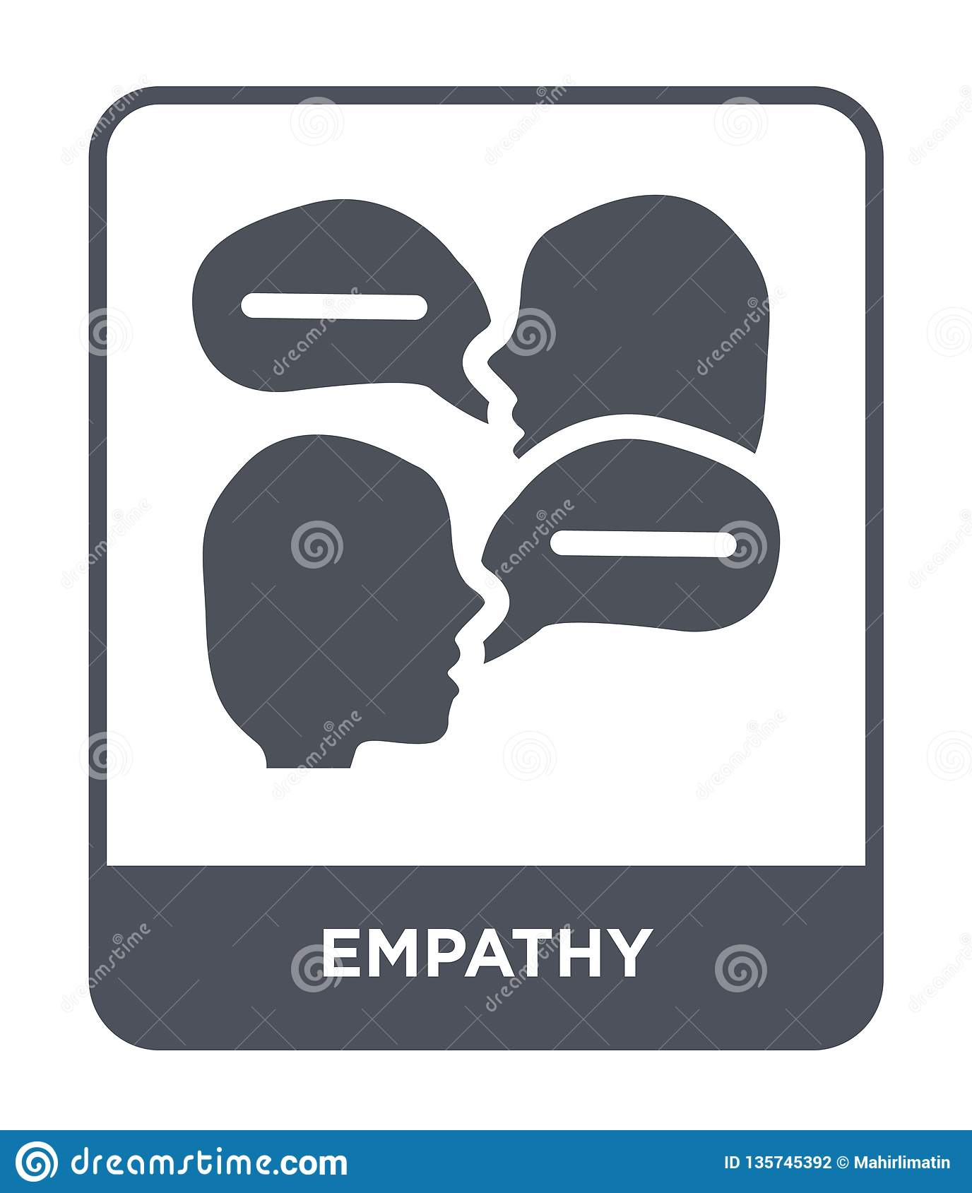 empathy icon in trendy design style. empathy icon isolated on white background. empathy vector icon simple and modern flat symbol