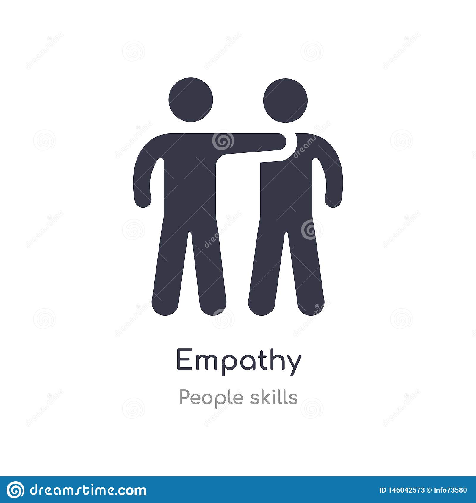 empathy outline icon. isolated line vector illustration from people skills collection. editable thin stroke empathy icon on white