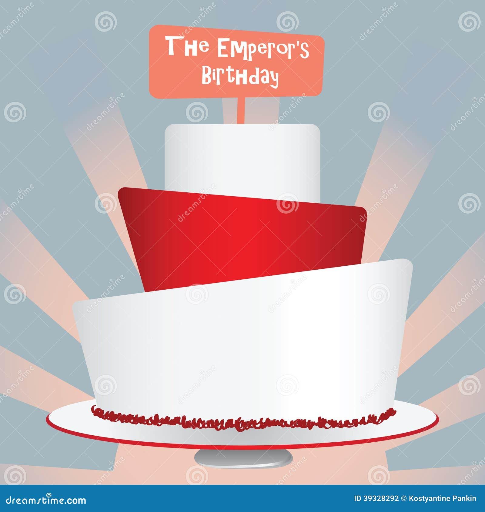 Emperors Birthday Stock Vector