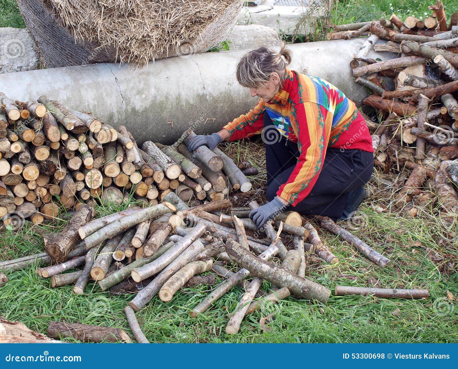 Empilement du bois de chauffage 2