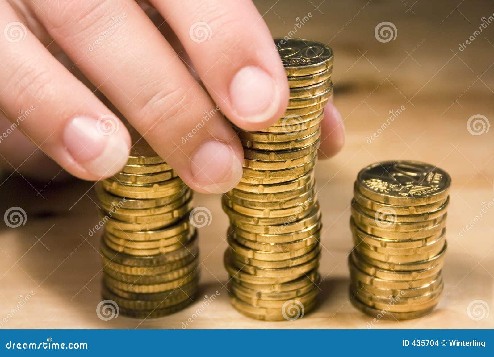 Empilement vers le haut des pièces de monnaie #1