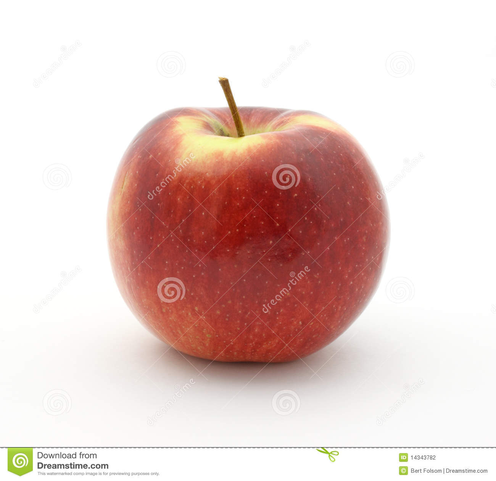 Empire apple on white background