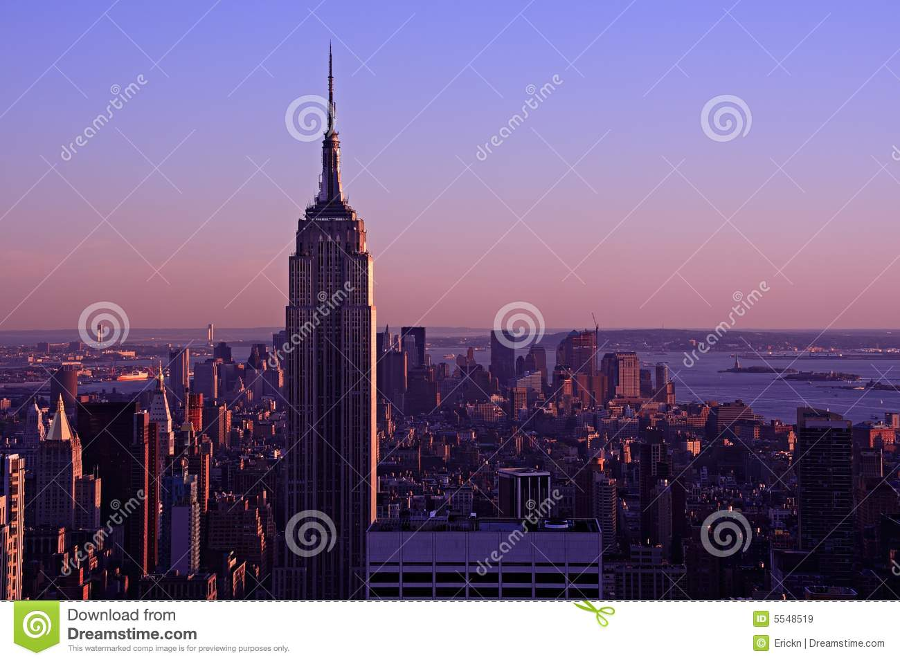 empire state building at dusk stock image image of dusk building