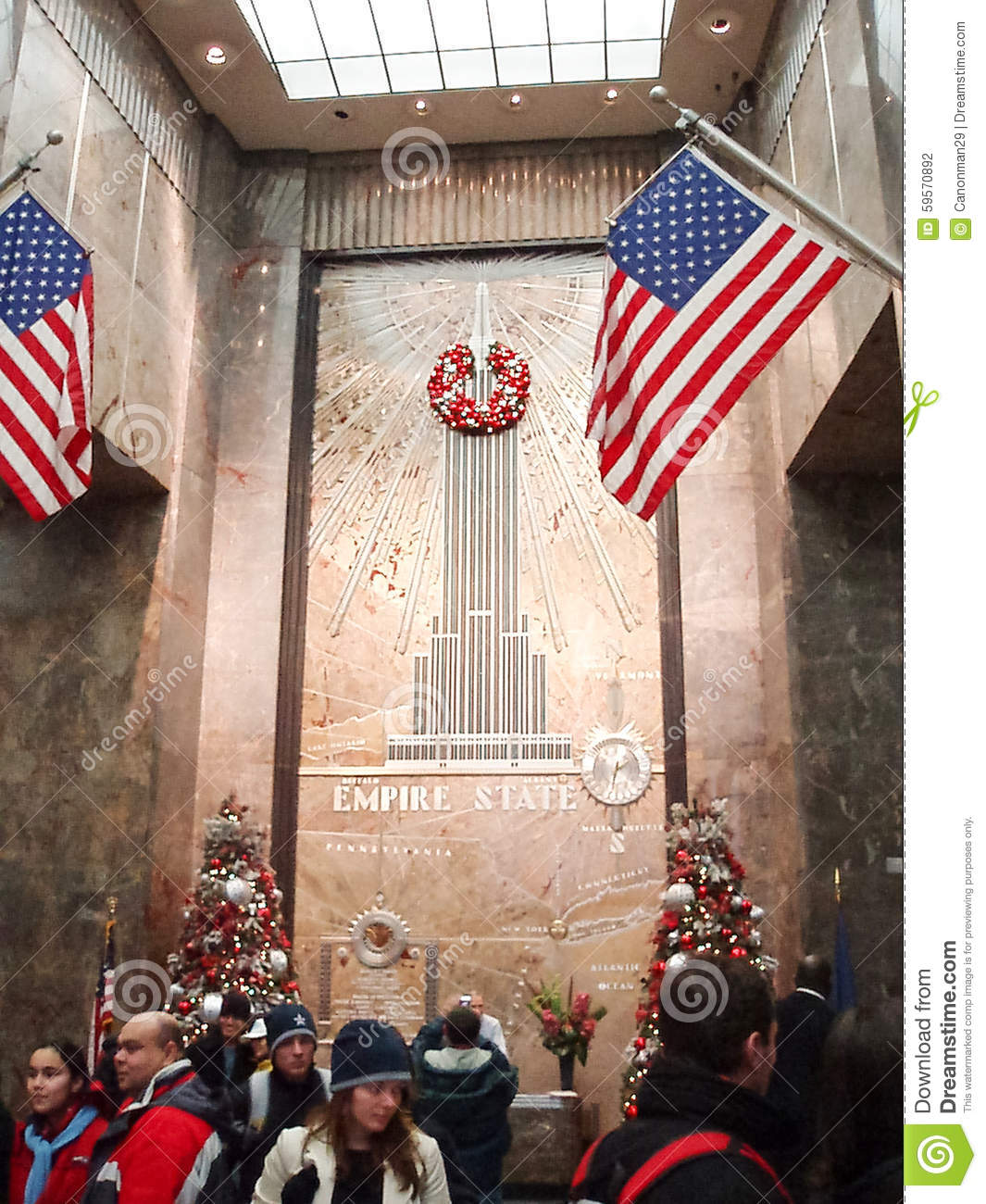 Empire State Building Entrance Hall Editorial Photography