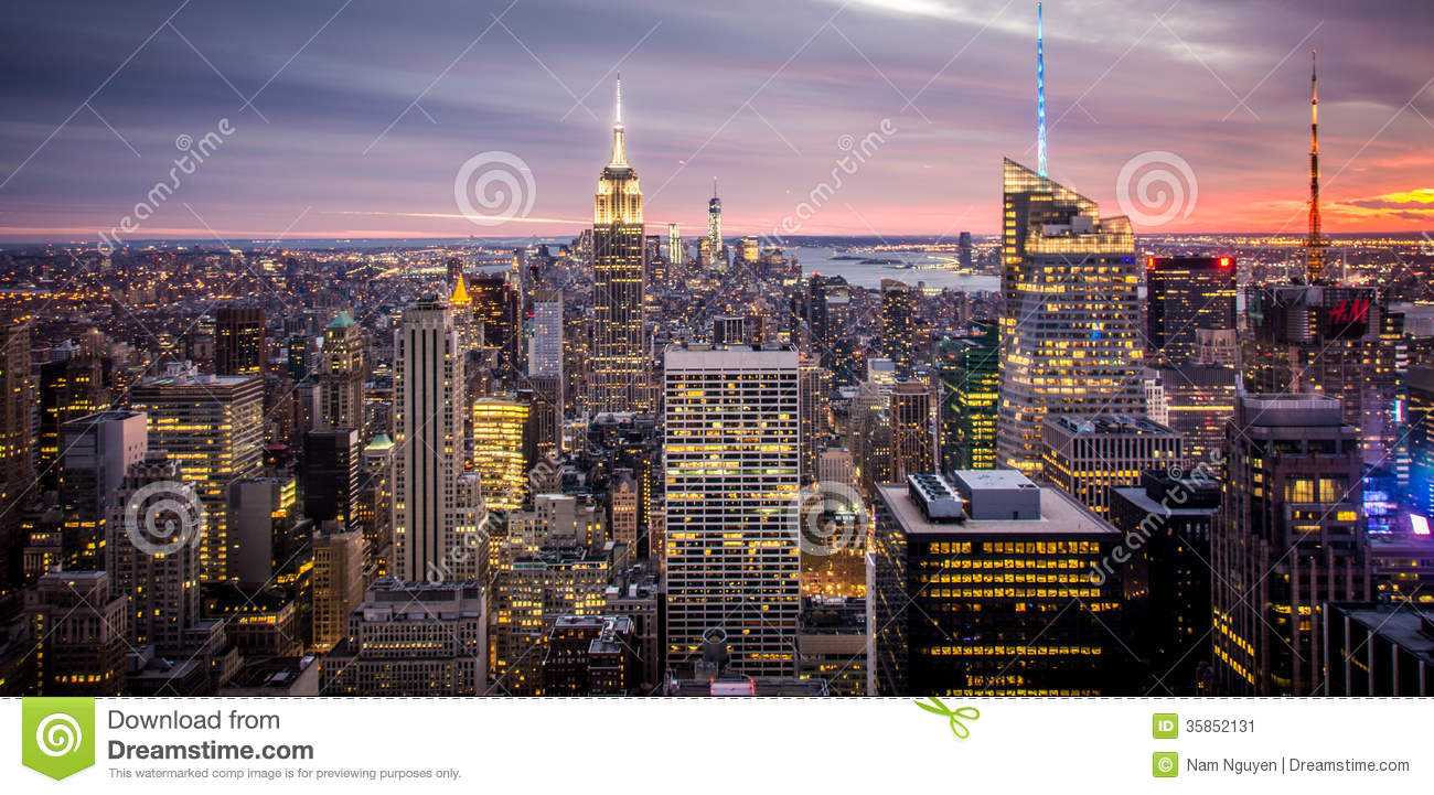 Empire State Building, New York City Manhattan during Sunset