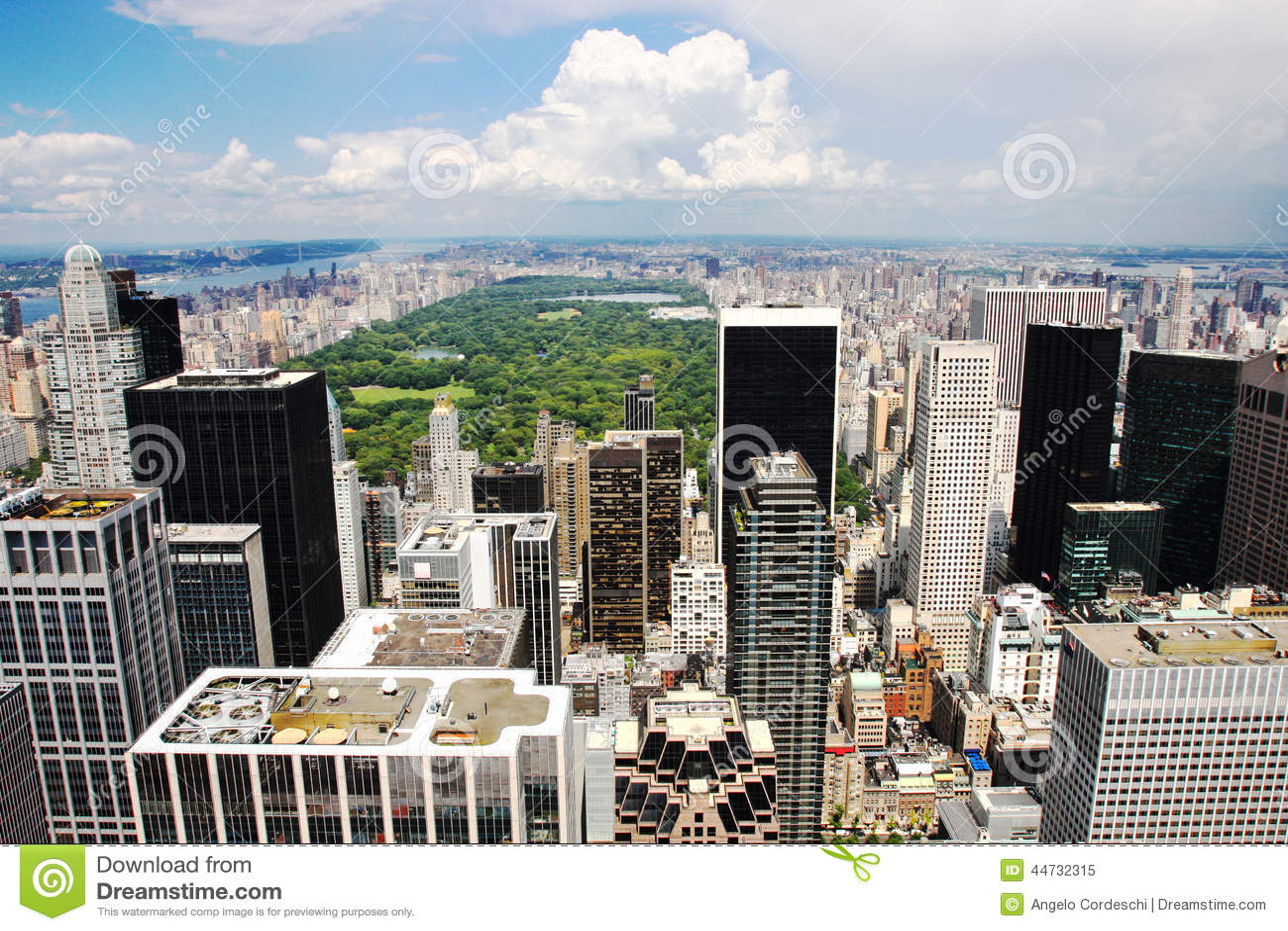 Empire State Building New York Manhattan Usa Stock