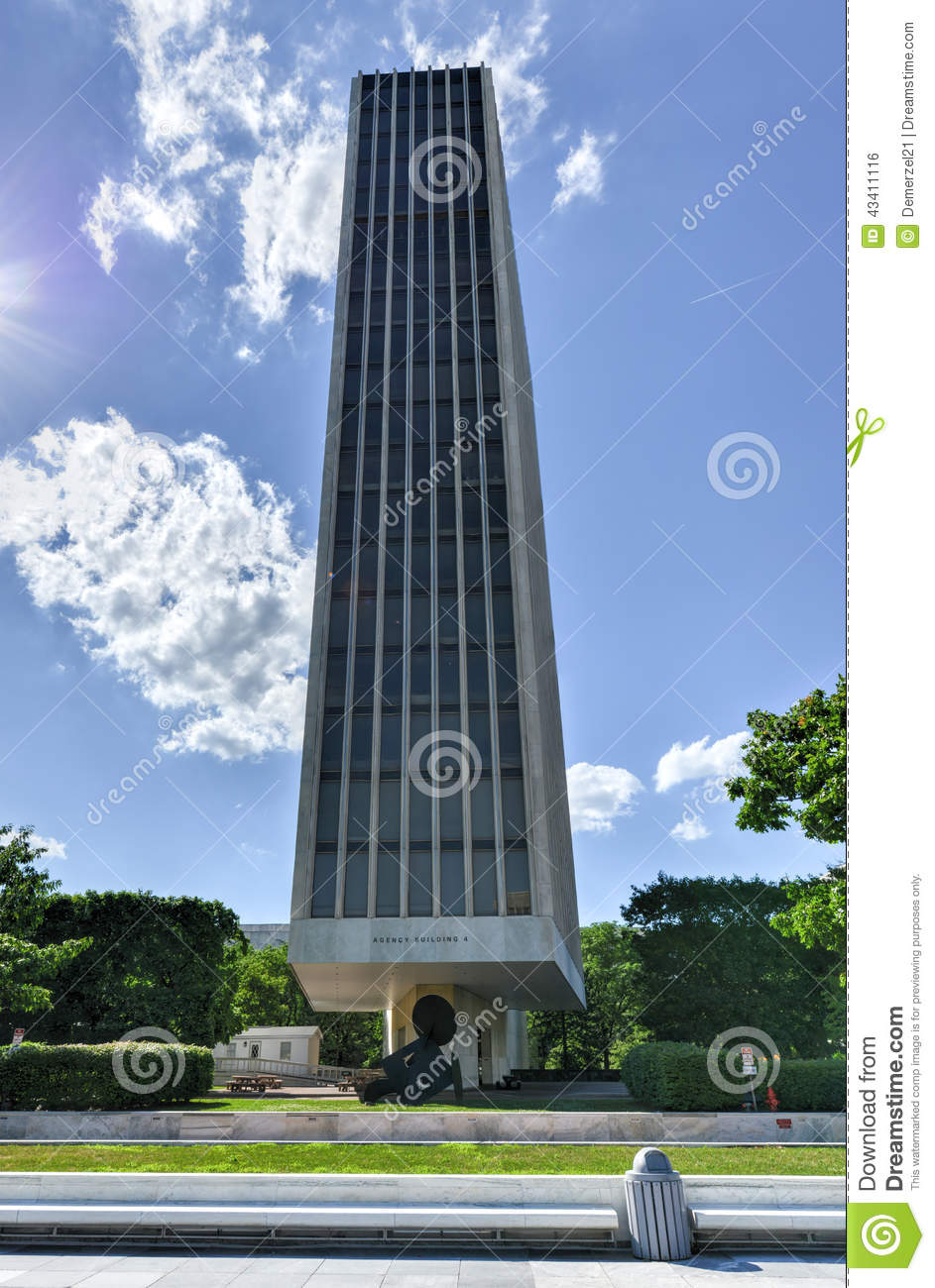empire state plaza in albany new york editorial photo image of hudson tallest 43411116. Black Bedroom Furniture Sets. Home Design Ideas