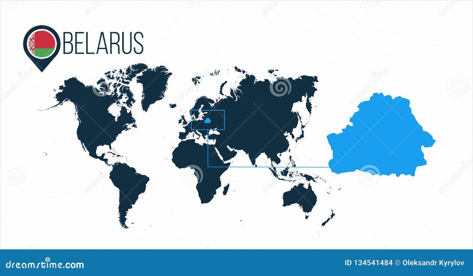 Carte Afrique Sans Pays.Emplacement Du Belarus Sur La Carte Du Monde Pour L