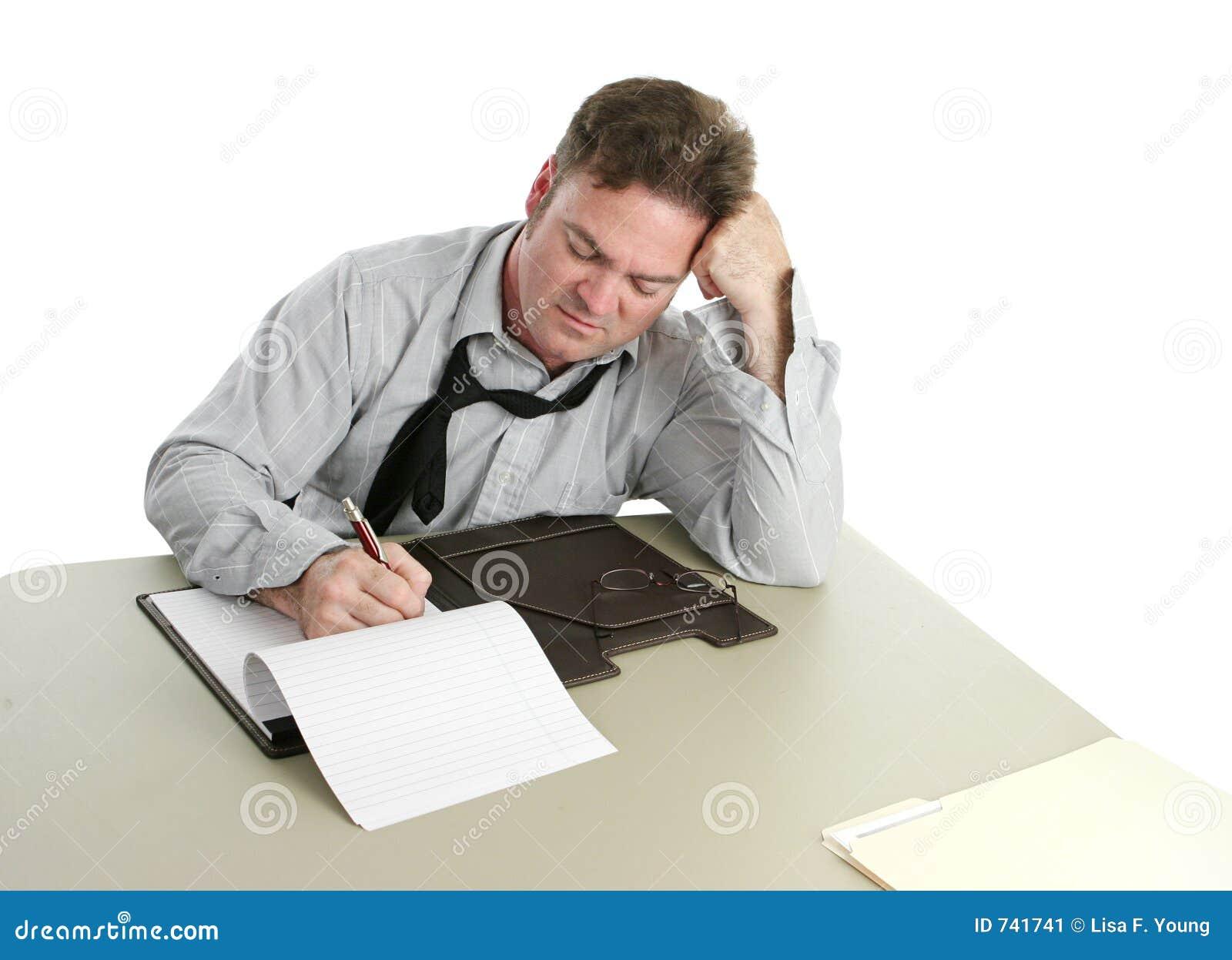 Employé de bureau - concentration