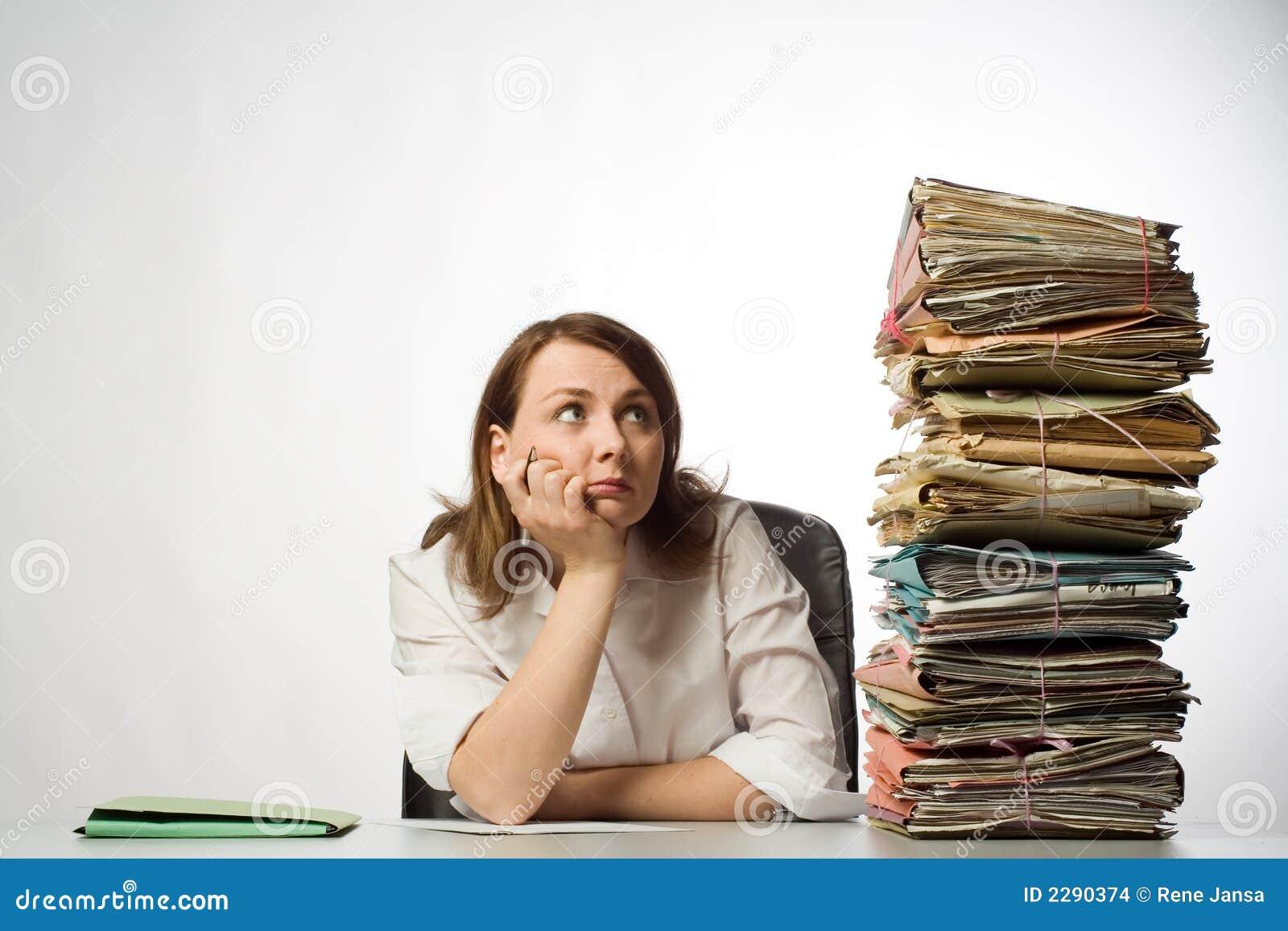 Employé de bureau féminin