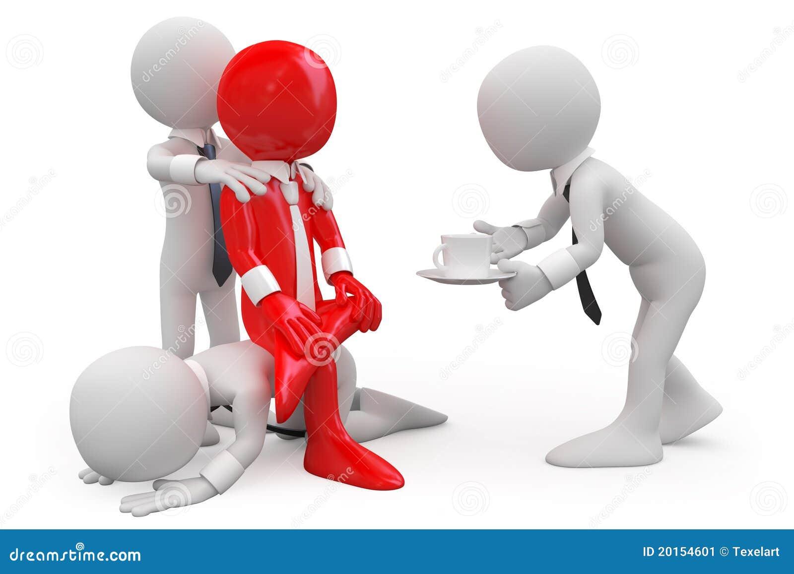 Employés essayant d obtenir une promotion de son bossage