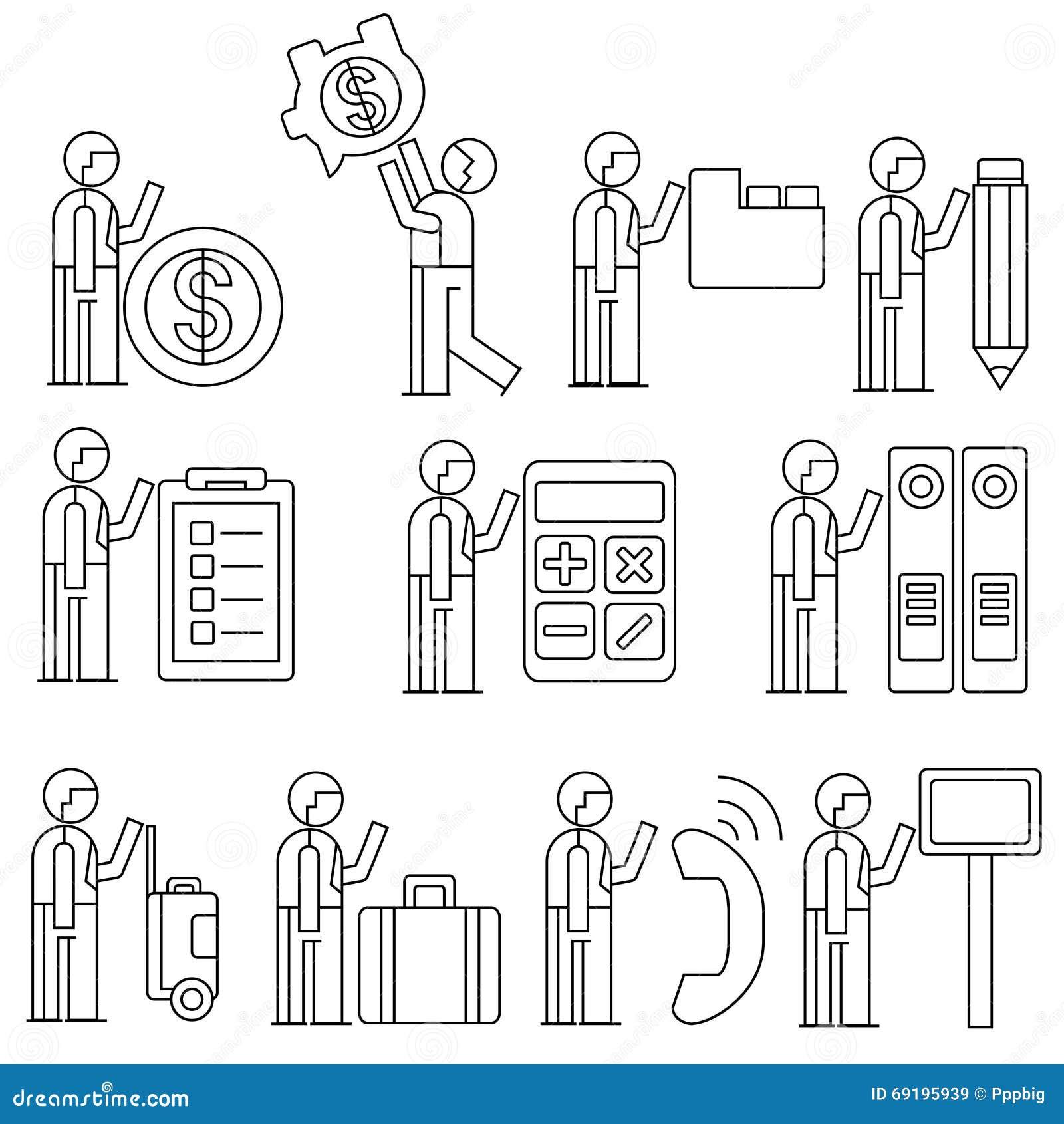 employ de bureau illustration stock image 69195939. Black Bedroom Furniture Sets. Home Design Ideas