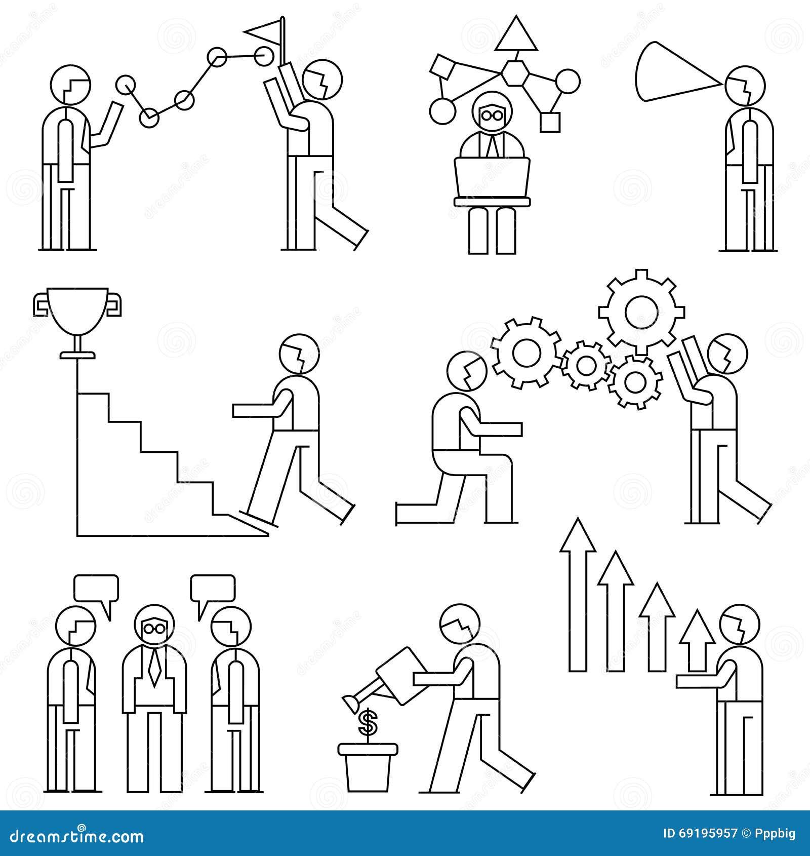 employ de bureau concept de gestion d 39 entreprise illustration stock image 69195957. Black Bedroom Furniture Sets. Home Design Ideas