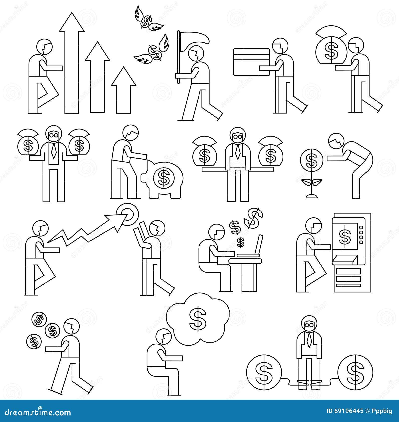 employ de bureau concept de gestion d 39 entreprise illustration stock image 69196445. Black Bedroom Furniture Sets. Home Design Ideas