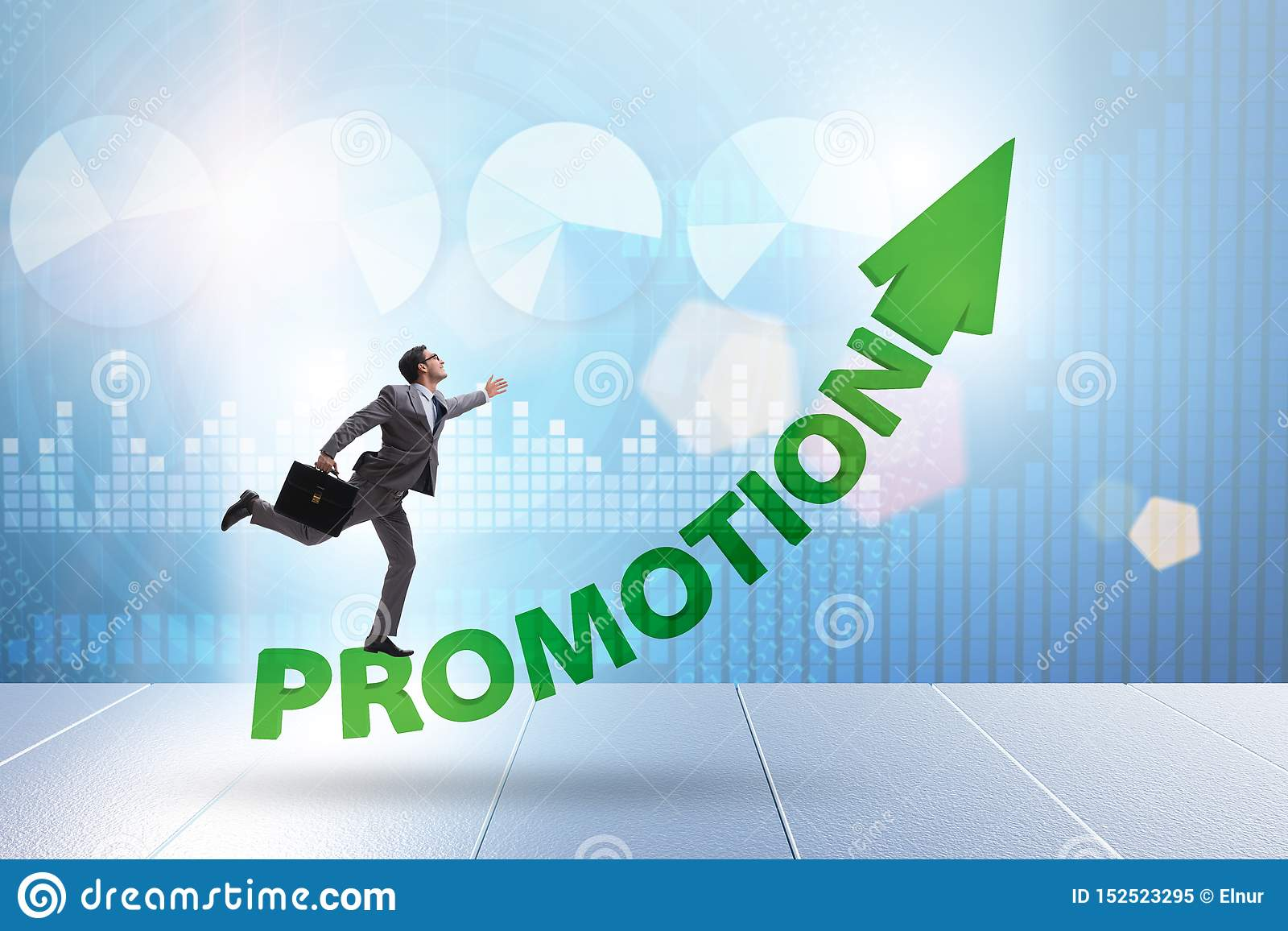 employee in career promotion concept stock illustration
