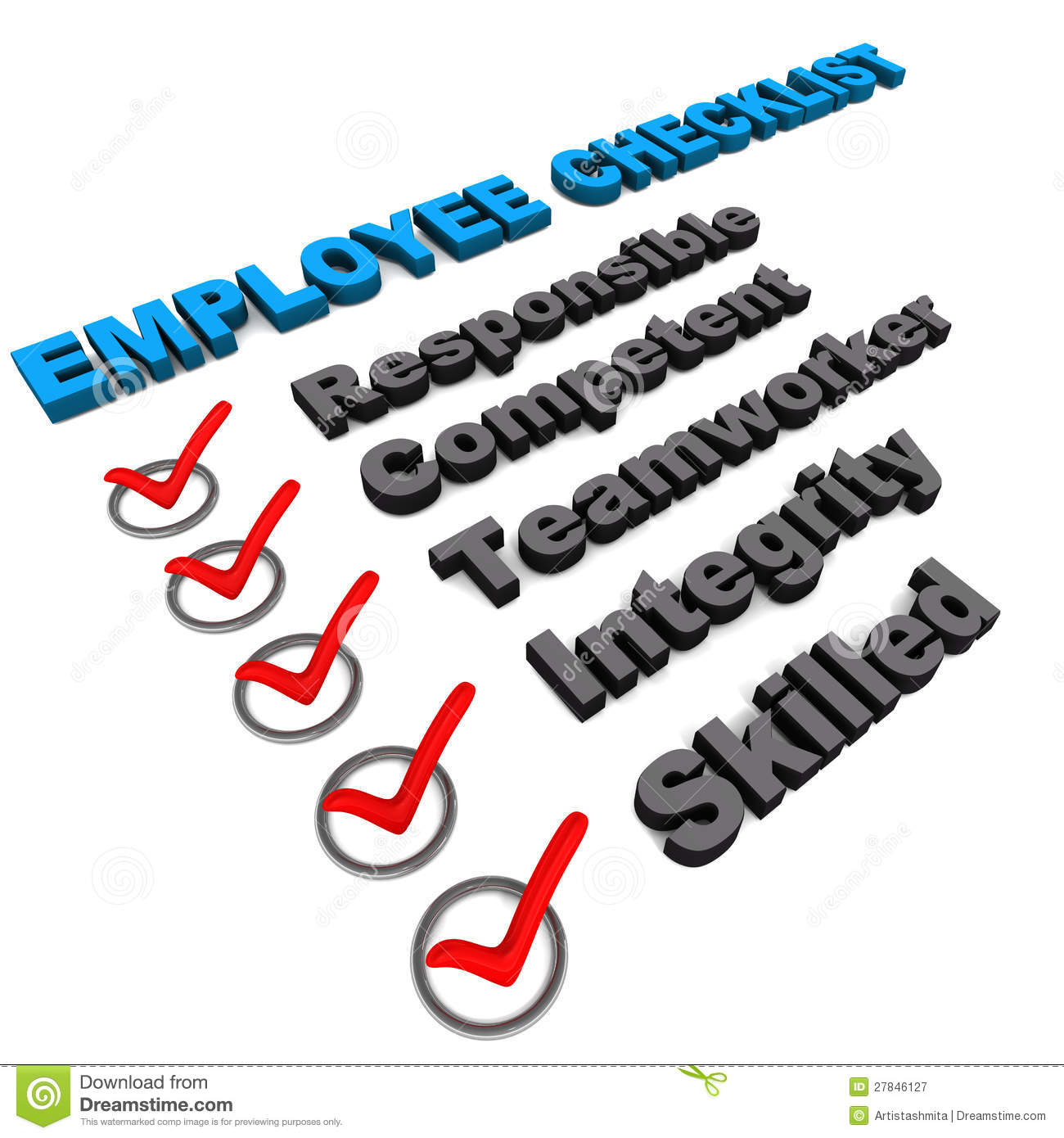 employee check list royalty stock photography image  employee check list