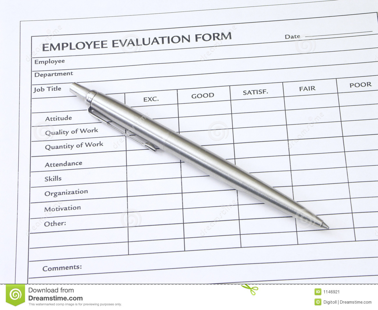 Doc600670 Free Printable Employee Evaluation Form Employee – Free Printable Employee Evaluation Form