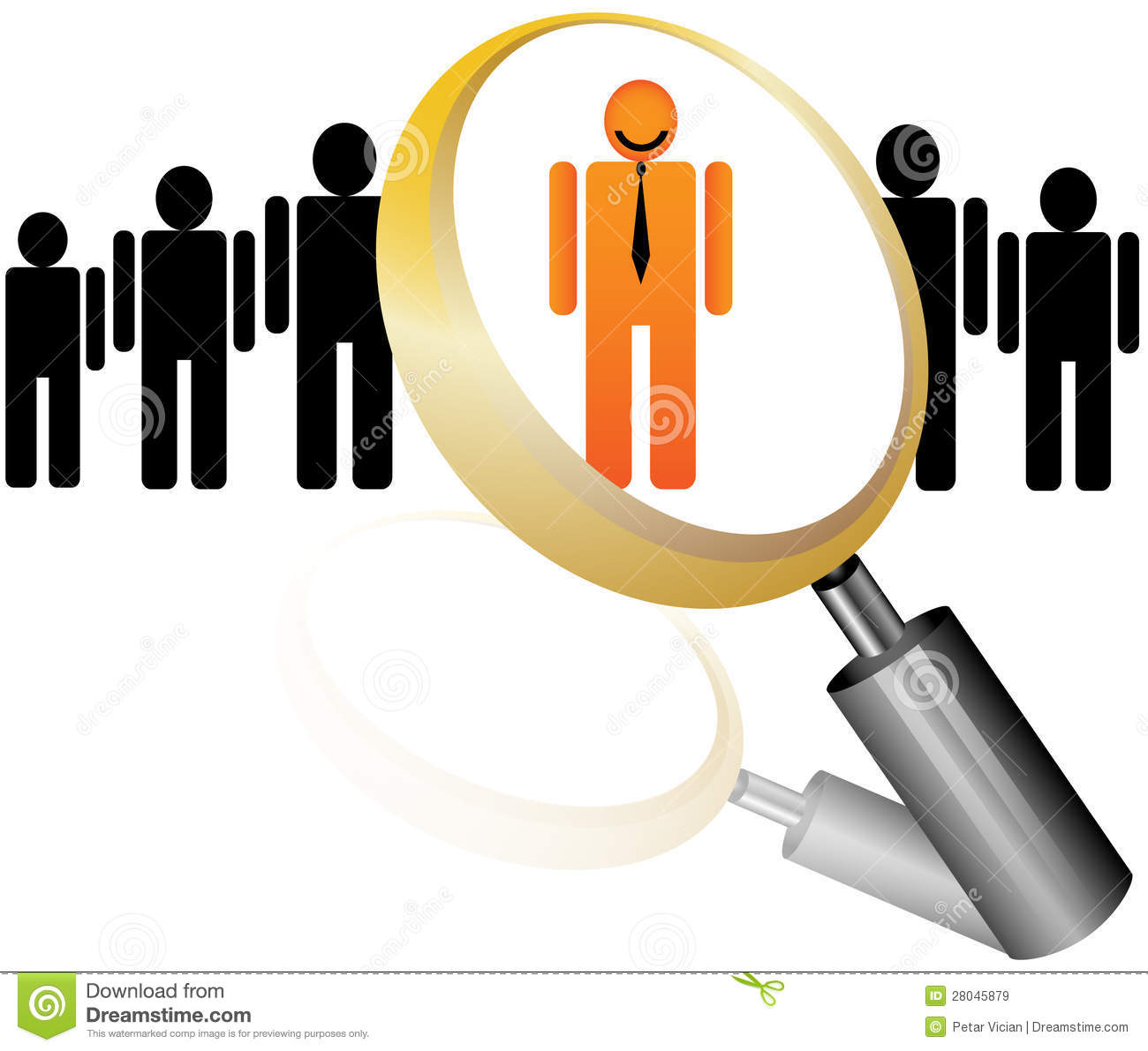 employee recruitment human resource selection interview employee icon for recruitment agency royalty stock images