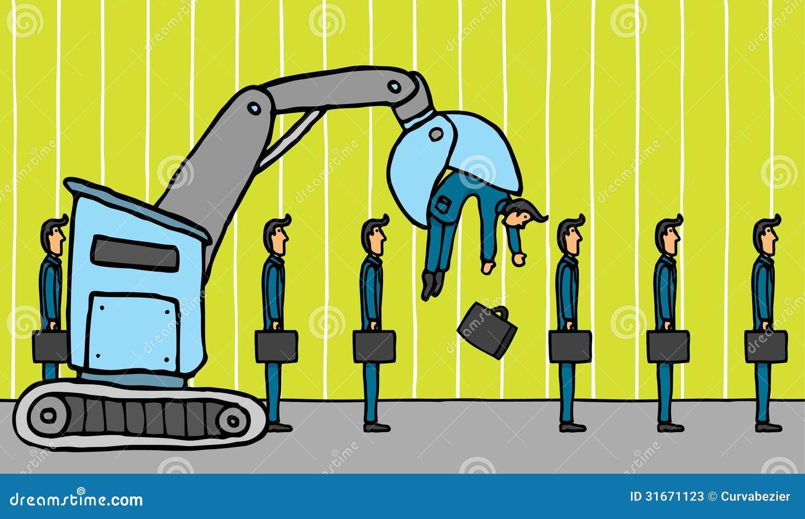Employee Layoff stock illustration  Illustration of
