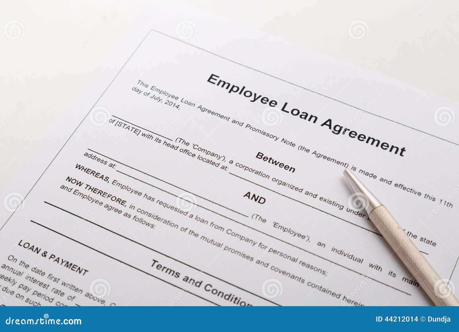 Employee Loan Agreement Stock Photo Image Of Application 44212014