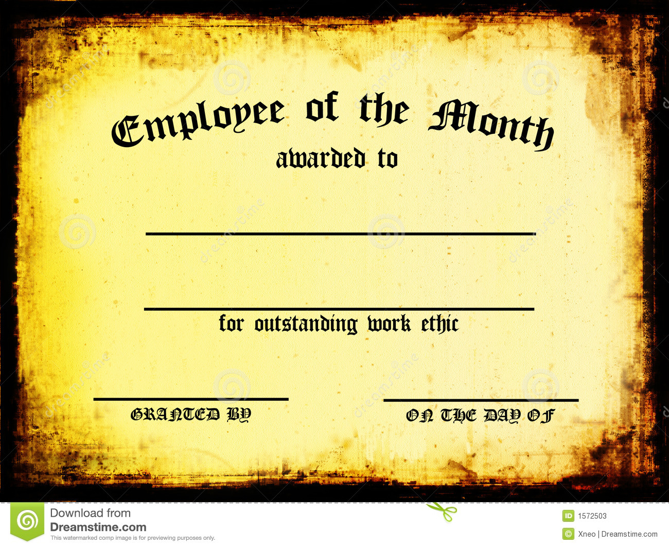 Employee Of The Month Stock Photos - Image: 1572503