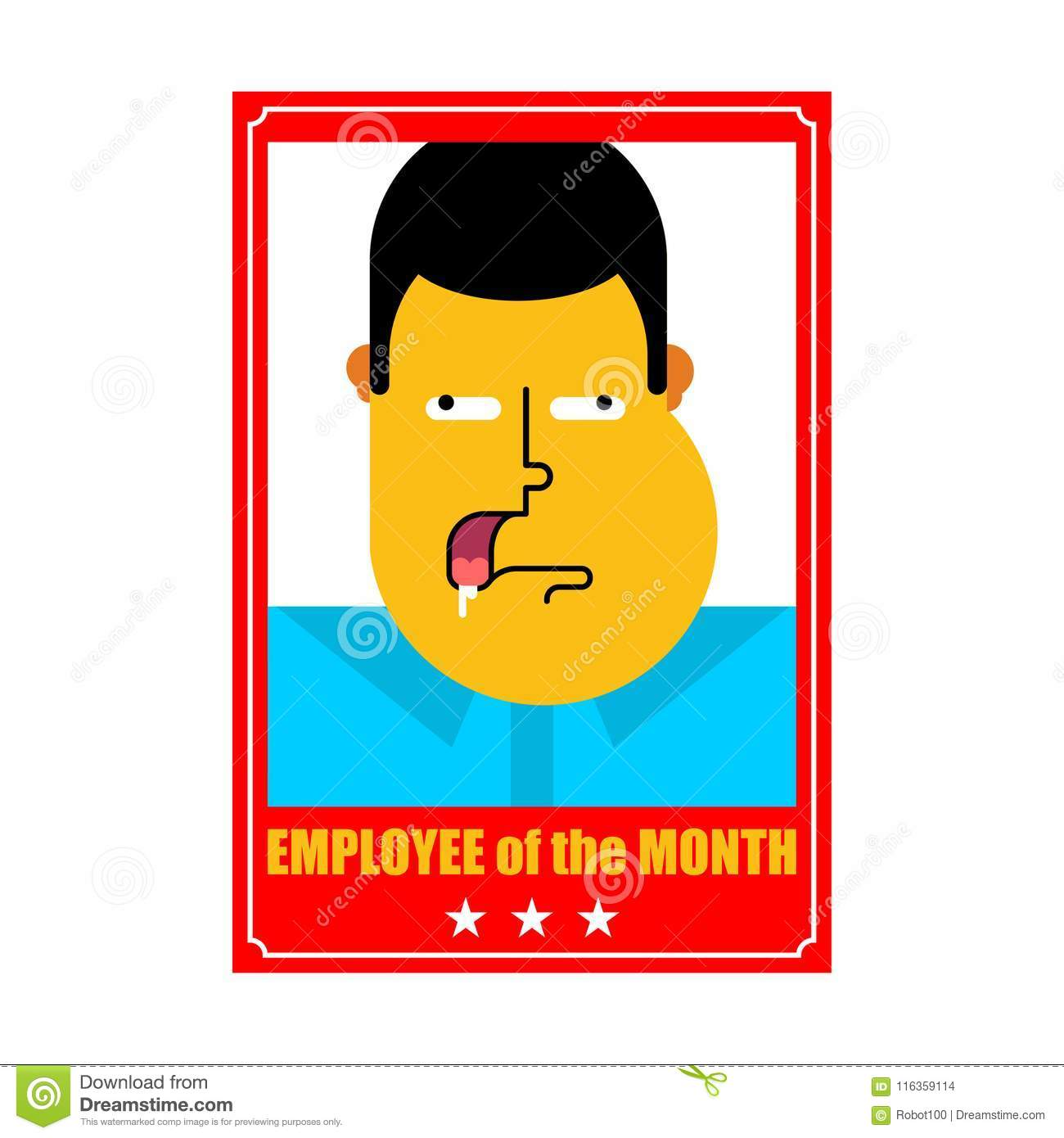 employee of month best worker portrait in frame on wall vecto