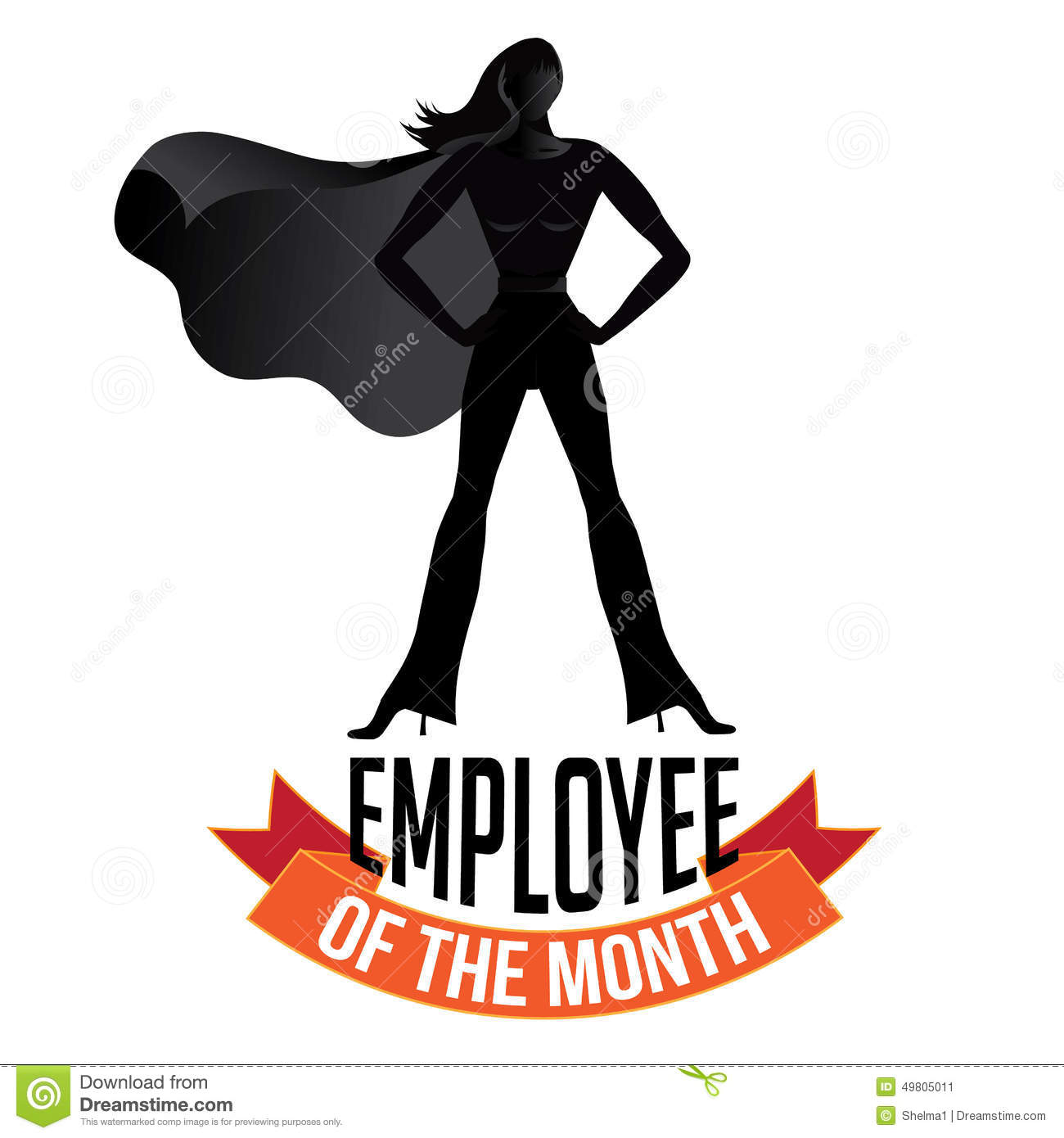 Employee of the month female isolated on white EPS 10 vector royalty