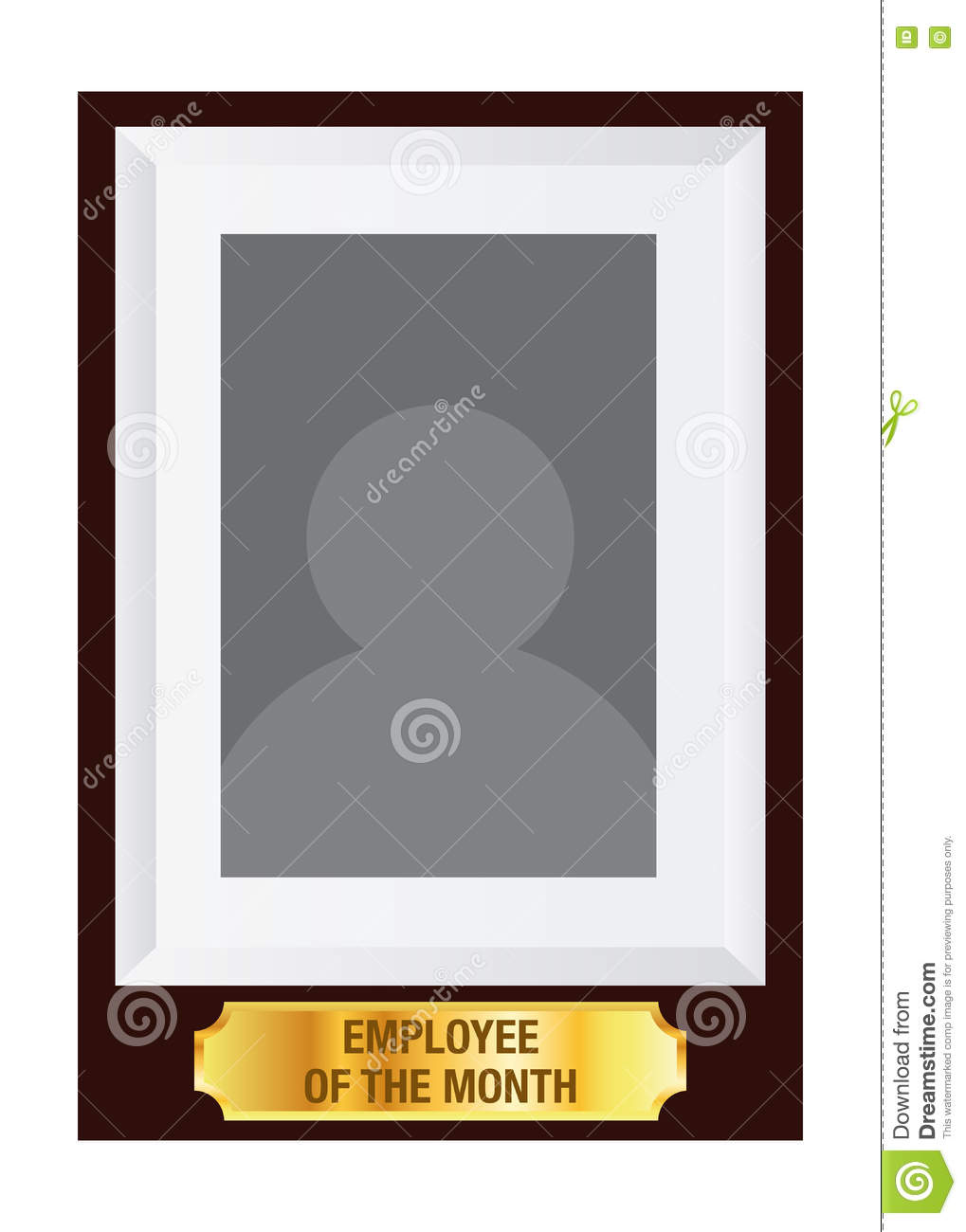 employee of the month photo frame template stock vector
