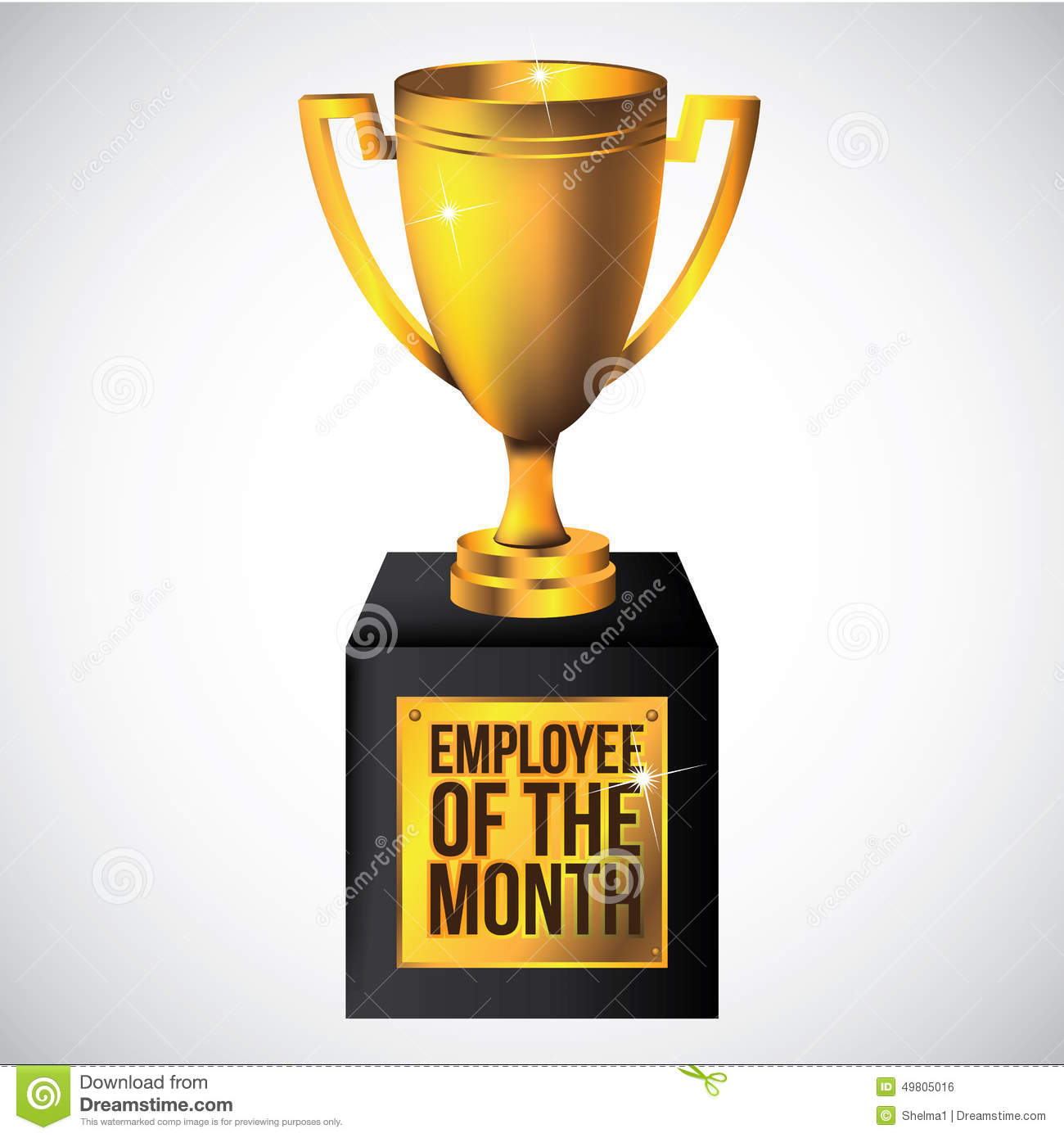 employee of the month poster frame stock vector illustration of