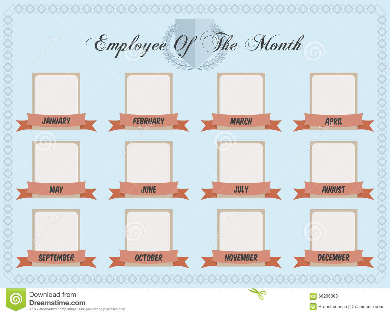 Employee Of The Month Stock Vector Image 66286383