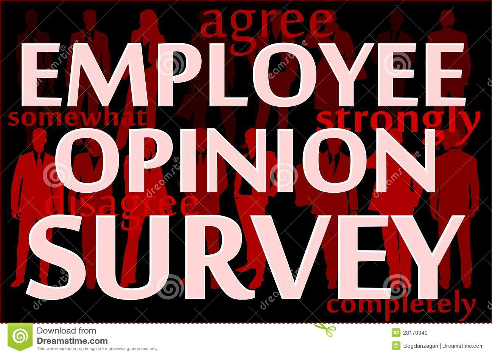 employee opinion survey stock vector  illustration of