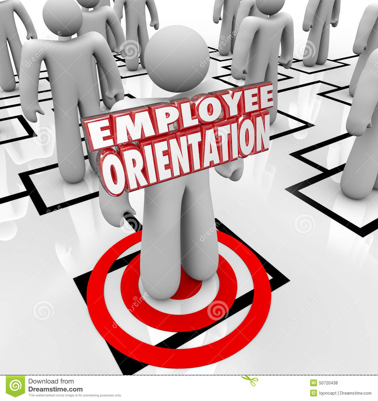 Employee Orientation Words New Worker Organization Chart ...