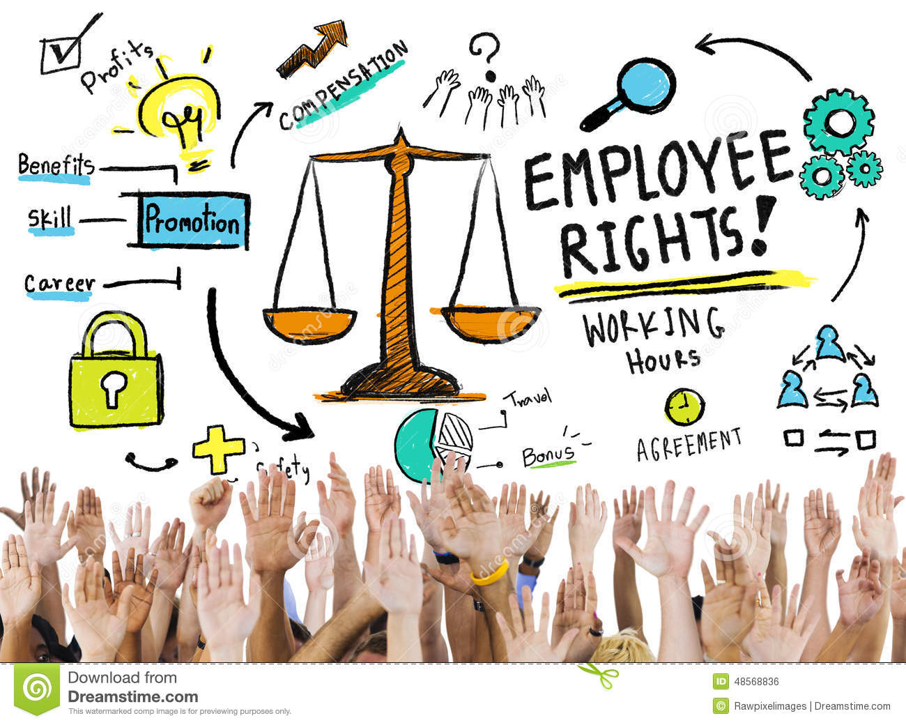employee rights employment equality job hands volunteer concept employee rights employment equality job hands volunteer concept