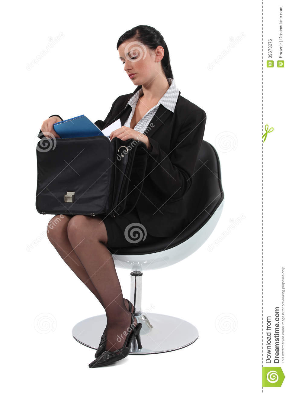 Employee sitting on a chair