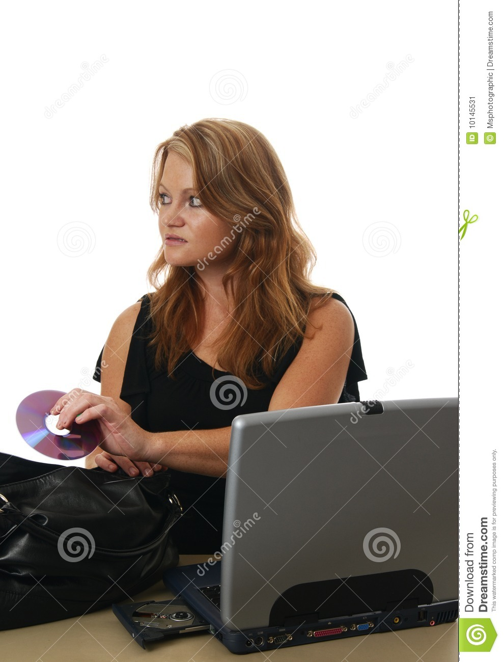 Employee Stealing Documents Stock Image