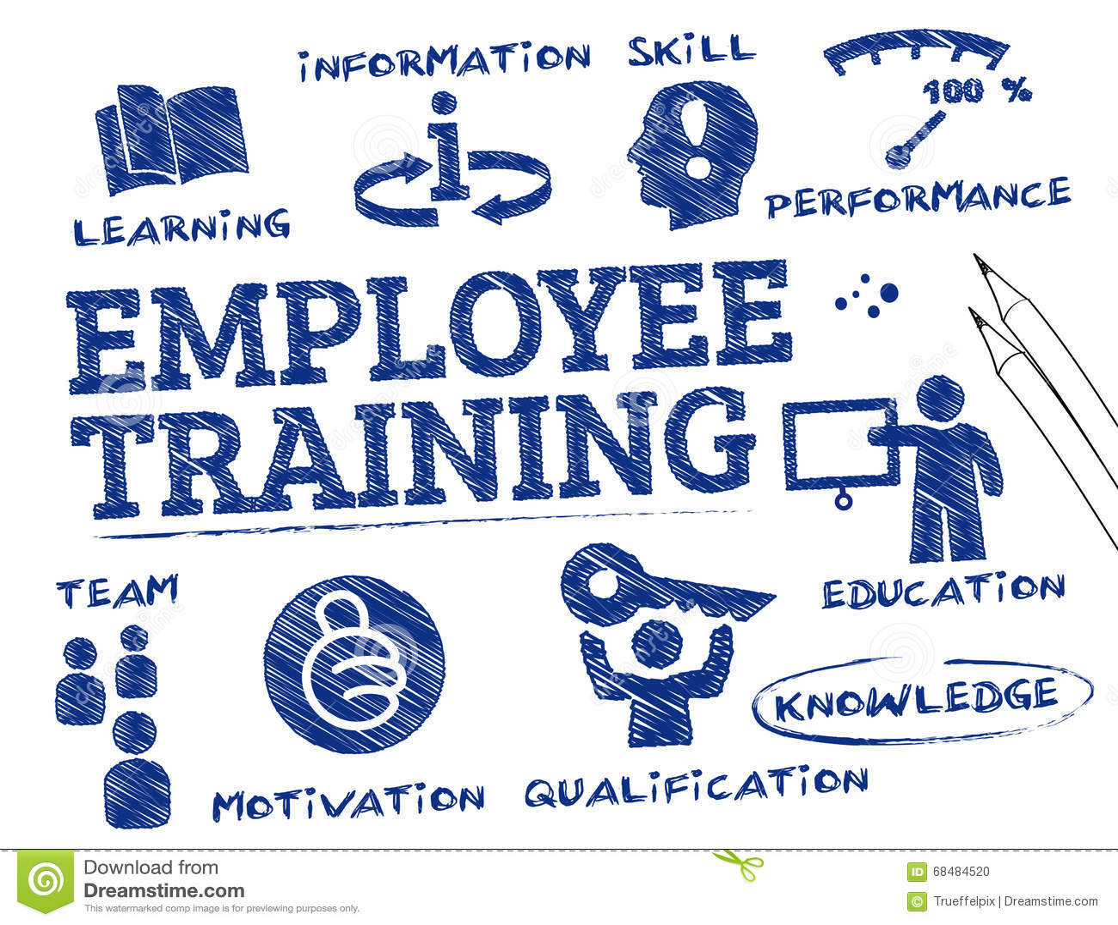Employee Training Concept Stock Illustration - Image: 68484520