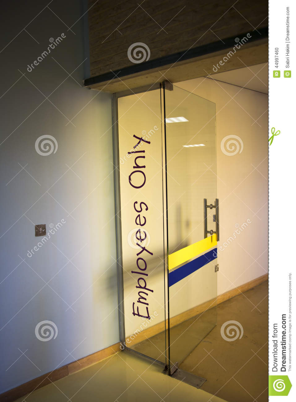 Employees Only Door Sign Stock Photo Image Of Exits 44997460