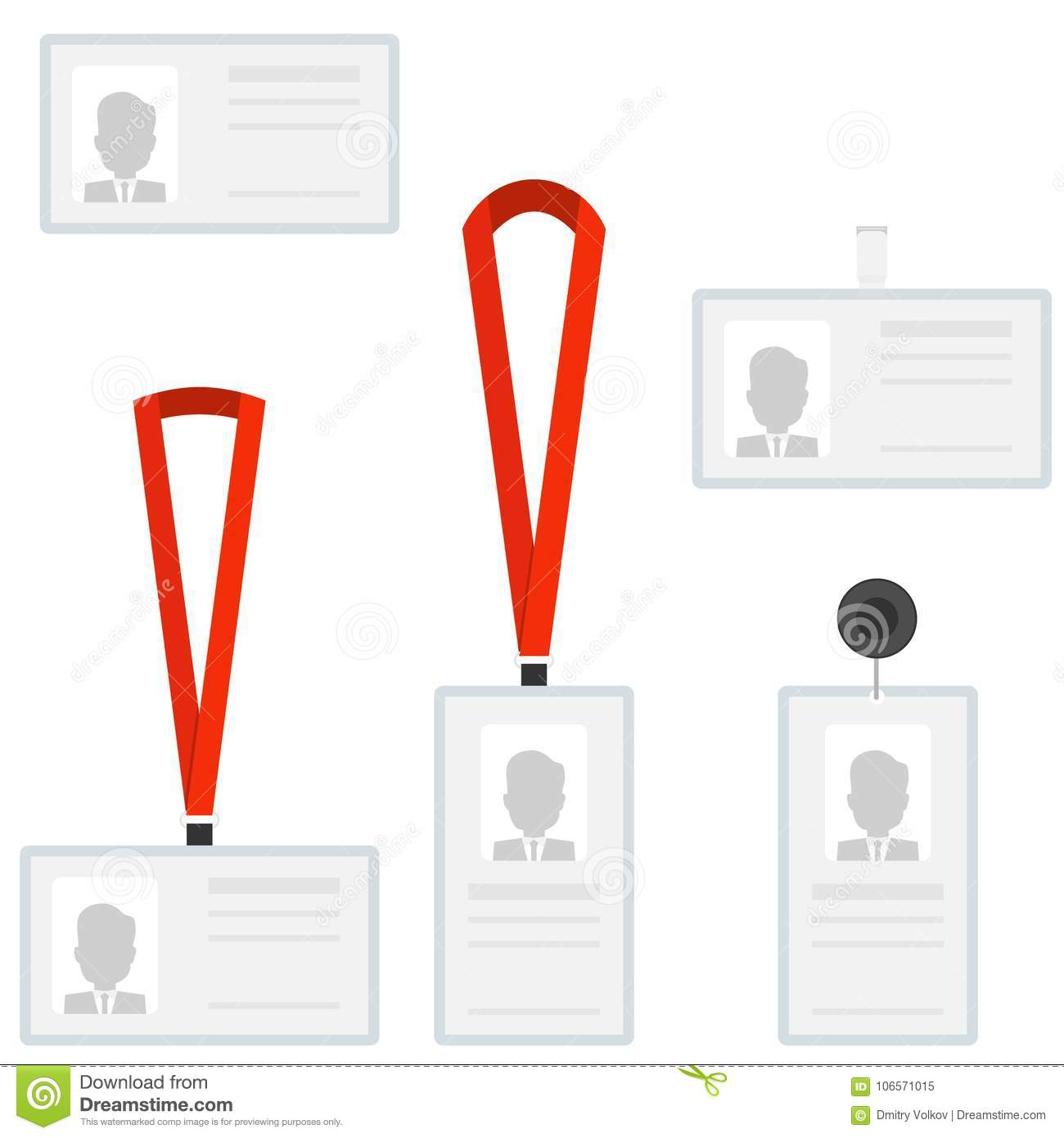 employees identification card id badges a set of identification