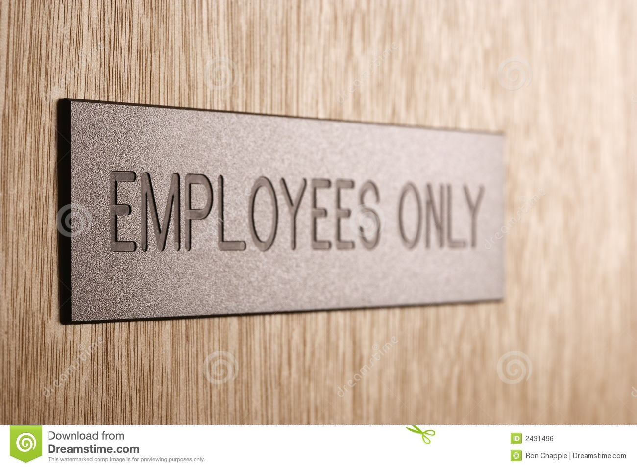Employees Only Sign. Royalty Free Stock Image  Image: 2431496