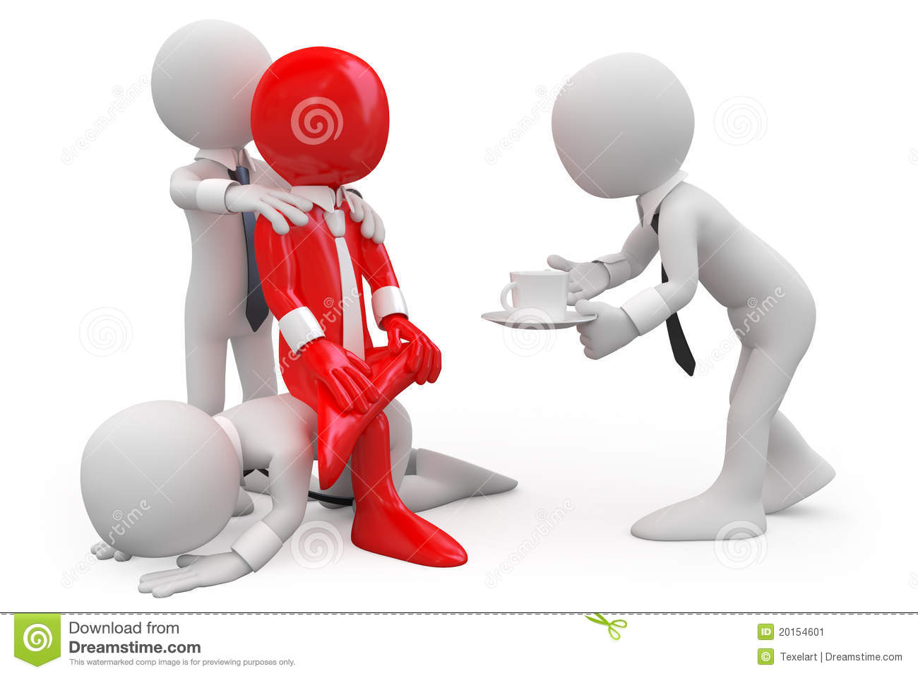 employees trying to get a promotion from his boss stock image employees trying to get a promotion from his boss
