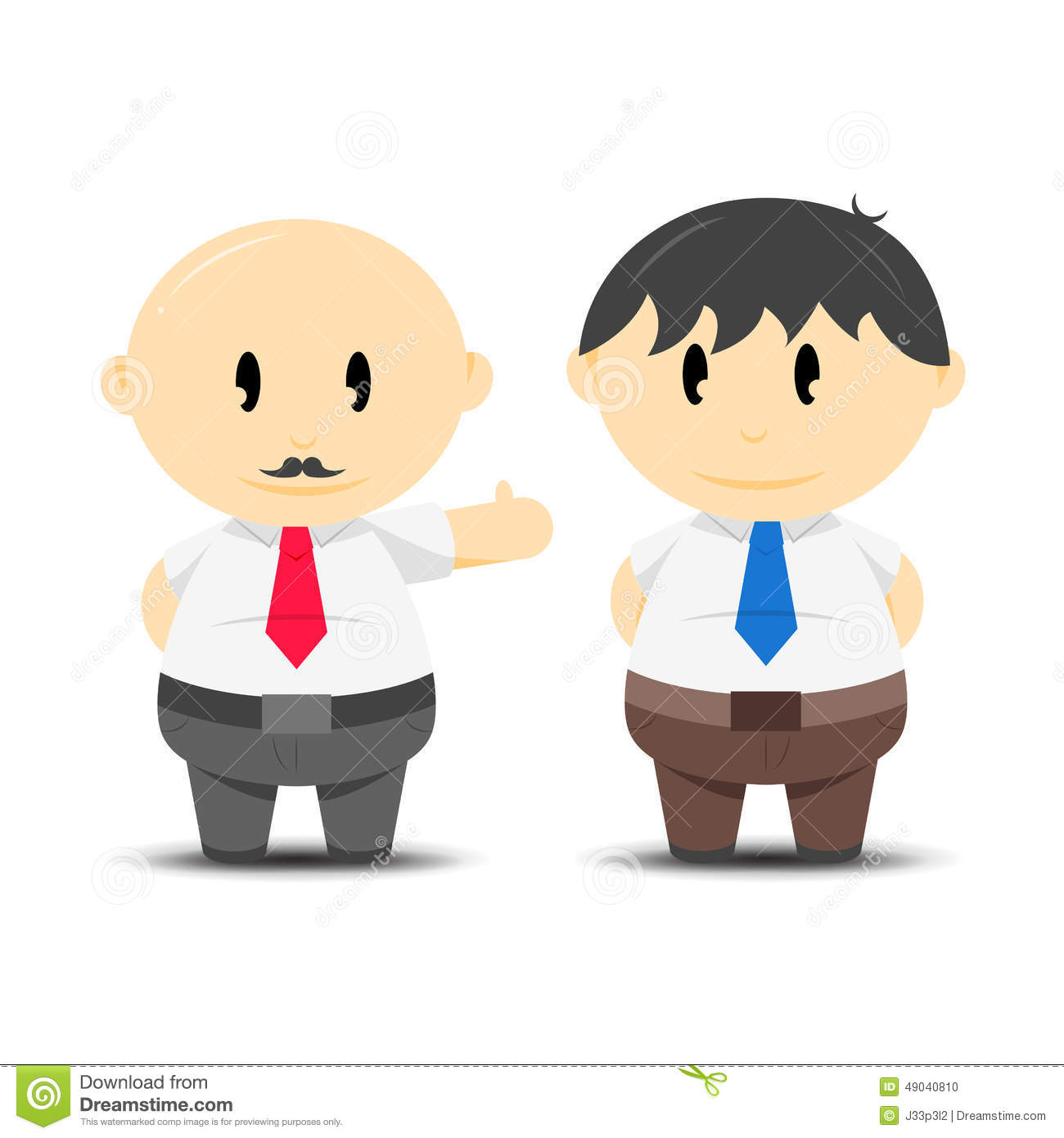 Employer and employee stock vector. Illustration of ...  Employer and em...