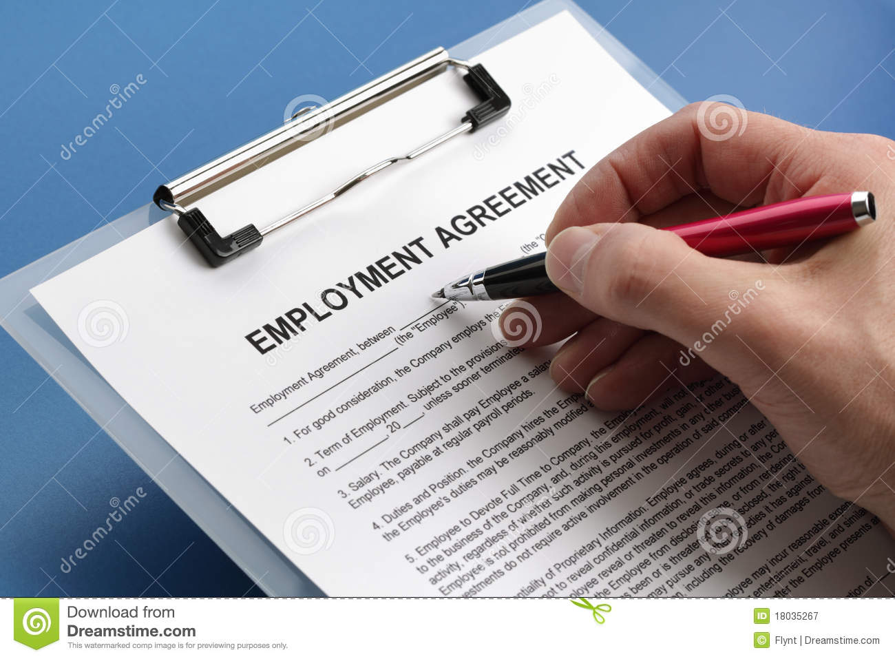Employment Agreement Photography Image 18566192 – Employment Agreement